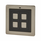 LightwaveRF 2 Gang Wire Free Generation 1 Switch - Stainless Steel )