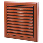 Blauberg Plastic Fixed Blade Grille - 100mm Terracotta)