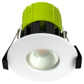 Luceco 8W Fixed Fire Rated Downlight - Dimmable - IP65 - Cool White)