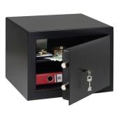 Burg Wachter HomeSafe Key Operated Safe - 278 x 402 x 376mm - Black)