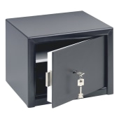 Burg Wachter HomeSafe Key Operated Safe - 257 x 347 x 298mm - Dark Grey)
