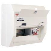 Contactum 8 Way 100A Main Switch Consumer Unit with SPD)
