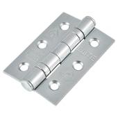 Twin Ball Bearing Hinge - 76 x 51 x 2.2mm - Satin Chrome - Pair)
