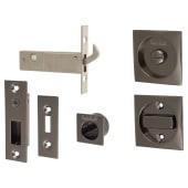 KLUG Square Flush Privacy Set with Bolt - Black Nickel)