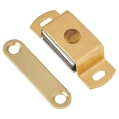 Magnetic Catch - 4.0kg Pull - 40mm - Solid Brass)