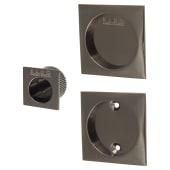 KLUG Square 3 Piece Flush Handle Set - Black Nickel)