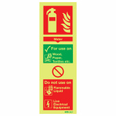 NITE-GLO Water Extinguisher - 280 x 90mm)