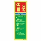 NITE-GLO Dry Powder Extinguisher - 300 x 100mm)