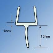 Clear PVC Shower Seal - Bottom Rail Seal - 10mm Glass)
