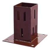 Taurus Bolt Down Fence Post Shoe - Quick Fit - 75mm - Oxide Red)