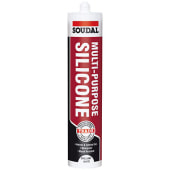 Soudal Multi-Purpose Silicone - 270ml - Brilliant White)