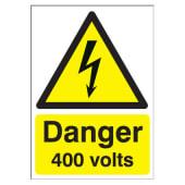 Danger 400 Volts - 210 x 148mm)