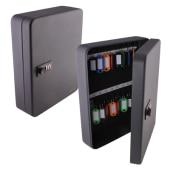Sterling Combination Key Cabinet - 36 Hook - Black)