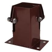 Powapost® Fence Post Flush Fit Bolt Down Shoe - Twin Bolt - 75mm)