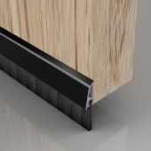 Stormguard Concealed Fixed Bottom Door Brush - 838mm - Black)