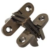 Tago Concealed Hinge - 45 x 13mm - Antique Brass - Pair)