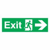 Exit Right - 150 x 450mm - Rigid Plastic)