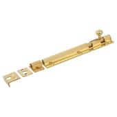 Decorative Straight Barrel Bolt - 150 x 32mm - Polished Brass)