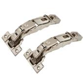 Blum CLIP Top Zero Protrusion Soft Close Cabinet Hinge - 155° - Sprung - Overlay - Pair )