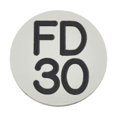 FD30 Door Sign Self Adhesive - 25mm - Silver)