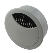 ION Round Cable Tidy - 60mm - Grey - Pack 10)