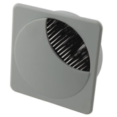 ION Square Cable Tidy - 80mm - Grey - Pack 10)