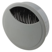 ION Round Cable Tidy - 80mm - Grey - Pack 10)