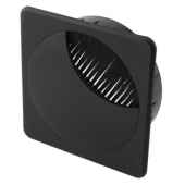 ION Square Cable Tidy - 80mm - Black - Pack 10)