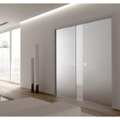 Eclisse 8mm Glass Double Pocket Door Kit - 125mm Wall - 826 + 826 x 2040mm Door Size)