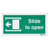Nite Glo Slide to Open Left - 100 x 200mm)