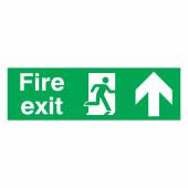 Fire Exit Up - 150 x 450mm - Rigid Plastic)