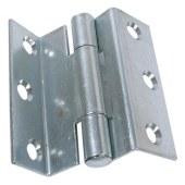 Storm Proof Casement Hinge - 8mm wide gap - 63mm - Bright Zinc Plated - Pair)