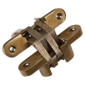 Tago Concealed  Hinge - 117 x 25mm - Antique Brass - Pair)