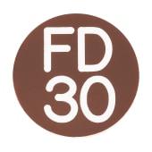 FD30 Door Sign Self Adhesive - 25mm - Brown)