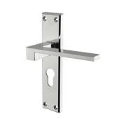Carlisle Brass Equi Door Handle - Euro Lock Set - Polished Chrome)