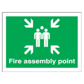 Fire Assembly Point Group - 450 x 600mm - Rigid Plastic)