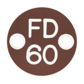 FD60 Door Sign Drilled - 25mm - Brown)
