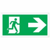 Running Man Right - 150 x 300mm - Rigid Plastic)