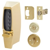 Kaba Unican Light Duty Mechanical Code Lock - Polished Brass)