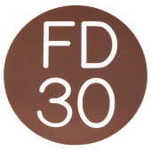 FD30 Door Sign Self Adhesive - 50mm - Brown)