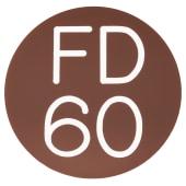 FD60 Door Sign Self Adhesive - 50mm - Brown)