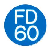 FD60 Door Sign Self Adhesive - 25mm - Blue)