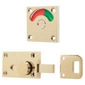 London Washroom Indicator Bolt - Polished Brass)