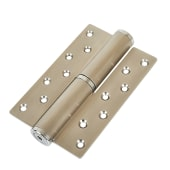 Hydraulic Hinge to suit 40kg Door - Right Hand - Satin Stainless Steel )