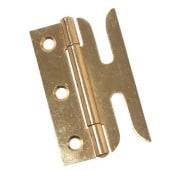 Slotted Sash Window Hinge - 75mm - Brass Plated - Pair)