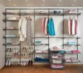 elfa® Classic Wardrobe Kit 1 - Platinum)