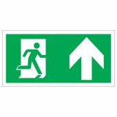 Running Man Up - 150 x 300mm - Rigid Plastic)