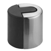 Altro Designer Floor Mounted Door Stop - 40mm - Satin Stainless Steel)