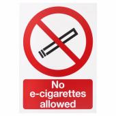 No E-Cigarettes Allowed - 297 x 210mm)