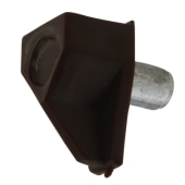 ION Shelf Support - 5mm Pin - Brown - Pack 50)